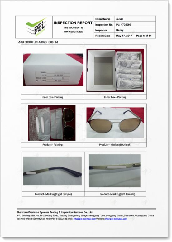 VISUAL INSPECTION ON PRODUCT MARKINGS/BRANDING AND PACKAGING
